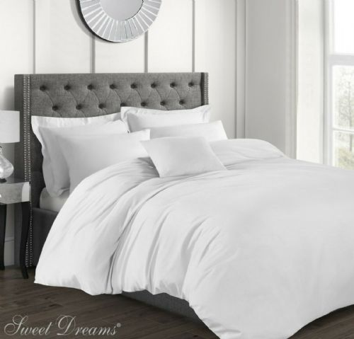 Hotel Quality Luxury 200 Thread Count 100% Pure Cotton Percale Duvet Cover, Super King Size, White